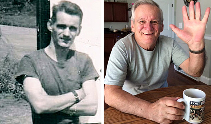 Joe Robi in Vietnam in 1969 (L) and Joe at the moment. Photo courtesy of Joe Robi.