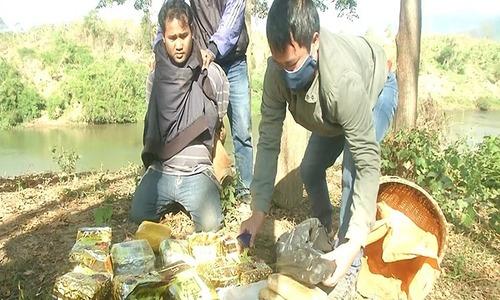 Lao man caught trafficking 10 kg of meth into Vietnam