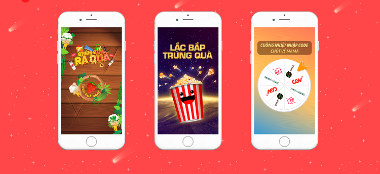 Newsfeed Instant Apps for campaigns for CGV Vietnam and CJ Vietnam.