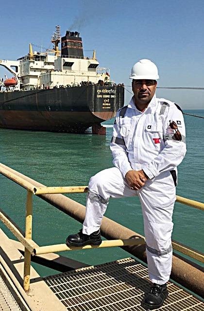 Husam Najim Abdulwahed is a petroleum engineer in Umm Qasr, a port city in southern Iraq. Photo courtesy ofHusam Najim Abdulwahed.