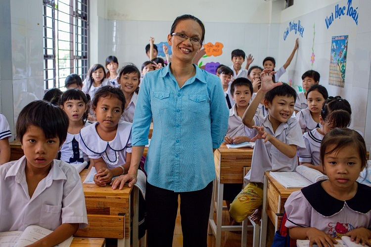 A class at the Binh An School. Photo by VnExpress/Tran Thanh.