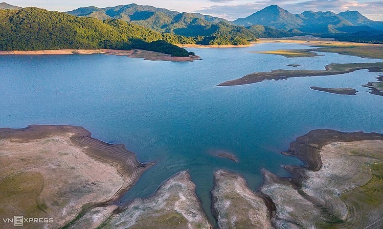 The 12-square-kilometer lake is in An Nhon Town, and irrigates thousands of hectares of land.