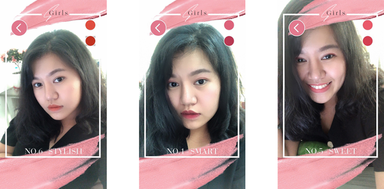 AR Filter for lipstick tester created by Jingo.