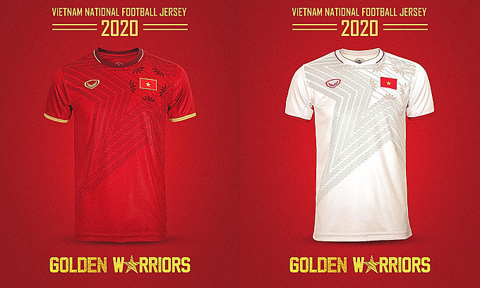 The design for Vietnam national football jersey 2020. Photo courtesy of Grand Sport.