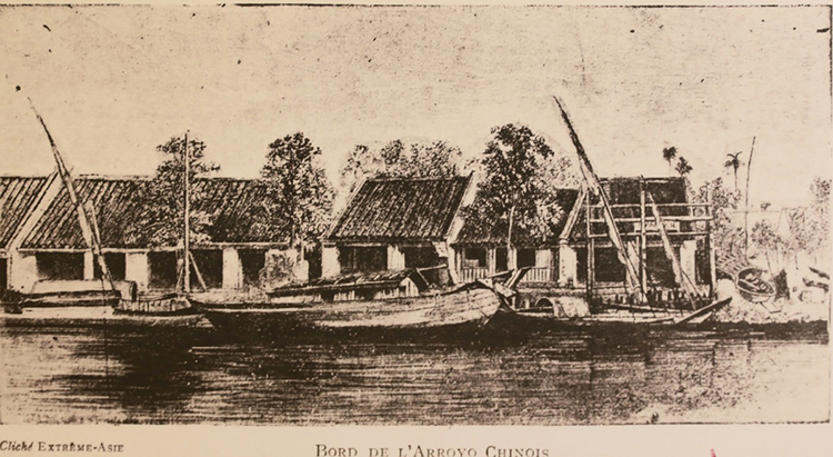 Ben Nghe Canal in the 1860s.