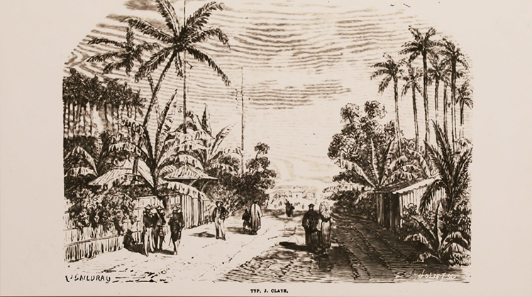 A corner of Saigon in the early 19th century when the French had yet to take the city in 1859.