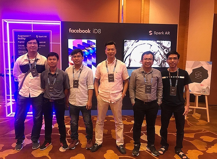 Golden A and Jingo participating in Facebook iD8 held in Singapore in August 2019.