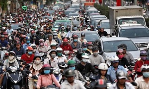 Tet preparations stall traffic all over Saigon