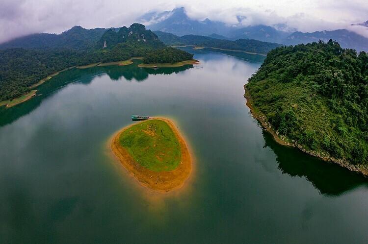 Na Hang Lake from above.