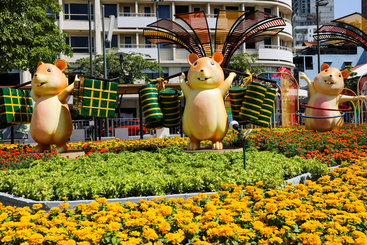 Giant rats take pride of place on Saigon's pride