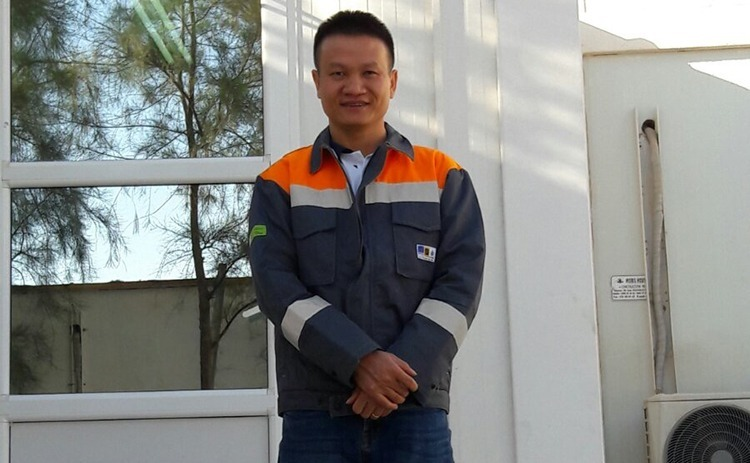 Khoan serves as head of the Mining Technology team, charged with the geological side of a local oil research, exploration and exploitation project. Photo courtesy of Do Duy Khoan.