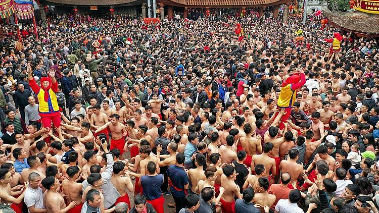 Whichever official can stand up the longest without falling will be the winner. The chosen officials for the game must be 51 years old whose family is the model for others and children are successful.  The festival was recognized as a National intangible cultural heritage by the Ministry of Culture, Sports and Tourism in 2016.