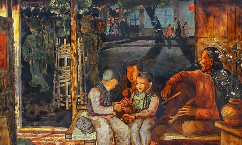 Artworks deliver vivid encounters with Tet celebrations through 70 years
