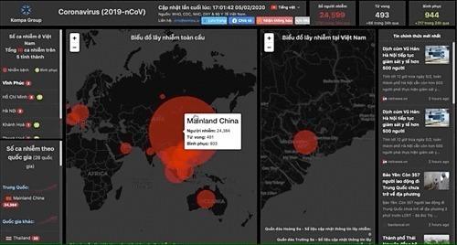 Vietnamese-built interactive coronavirus map a hit