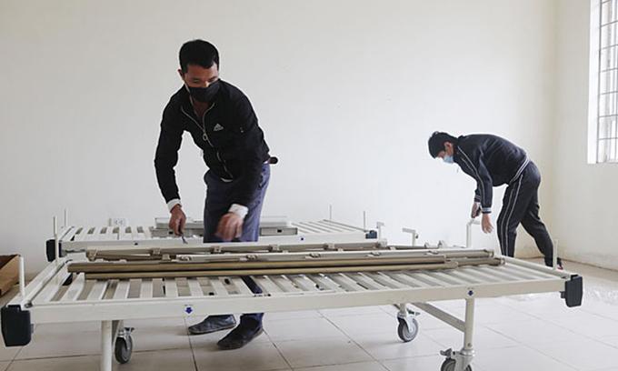 Vietnam's nCoV epidemic epicenter builds a field hospital