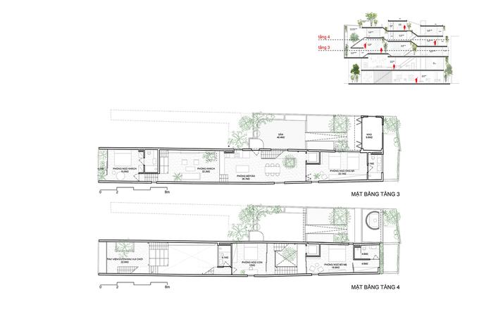 Blueprint of the 3rdand4thfloor.Photo byOddo Architects