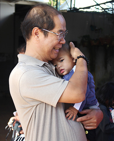 5-month-old Dinh Duc was left at a church before being adopted. Photo by VnExpress/Phan Diep.