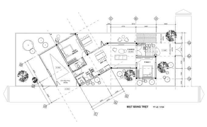 The 1st floor blueprint.