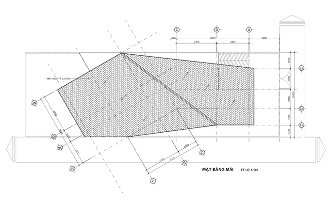 The roof blueprint.