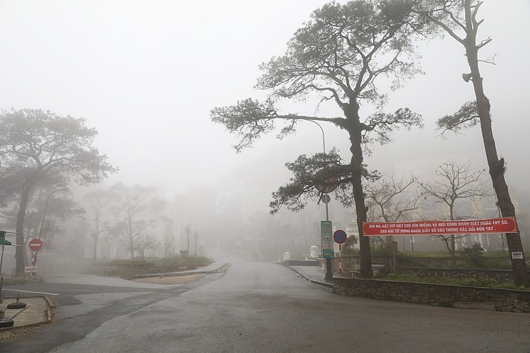 The entrance of Tam Dao tourist resort town was engulfed by clouds and fogs. A banner hung high between the two trees, reminded everyone to be hygienic, and wash hands usually to prevent the spread of the Covid-19 epidemic. Tam Dao is about 10 km far from Son Loi Commune of Binh Xuyen District where eight locals have been infected with novel coronavirus. Seven of them have been discharged from the hospital. However, the epidemic heavily affected on tourism business.