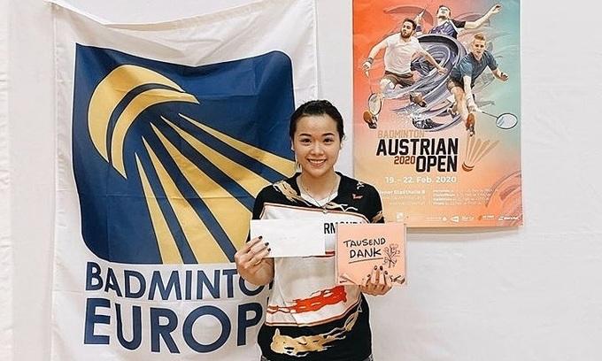 Vietnamese athlete runner up at Austrian badminton tournament
