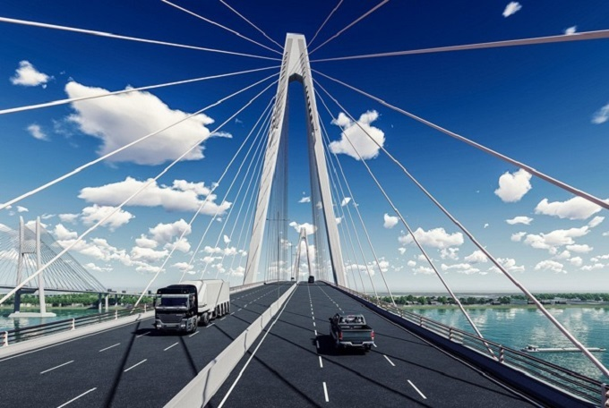 An artists impression of the My Thuan 2 Bridge connecting the southern provinces of Tien Giang and Vinh Long. Photo courtesy of the Ministry of Transport.