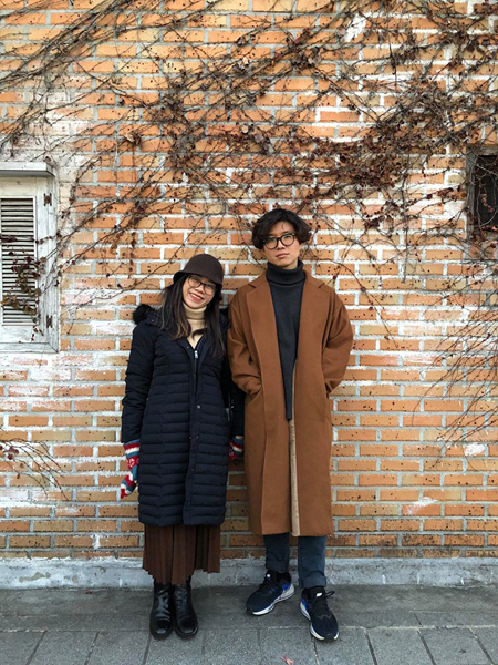 Sejun (L) and his Vietnamese wife. Photo courtesy of Sejun Eun.