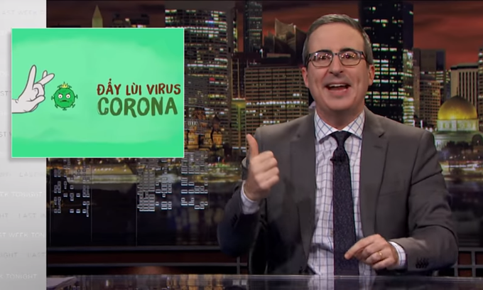Vietnam epidemic song features on John Oliver's show