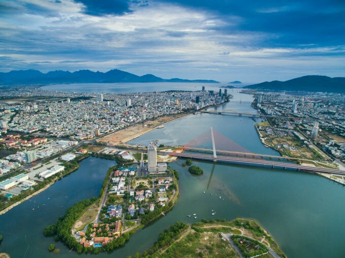 An arial view of Da Nang City. Photo by Shutterstock/Jimmy Tran.