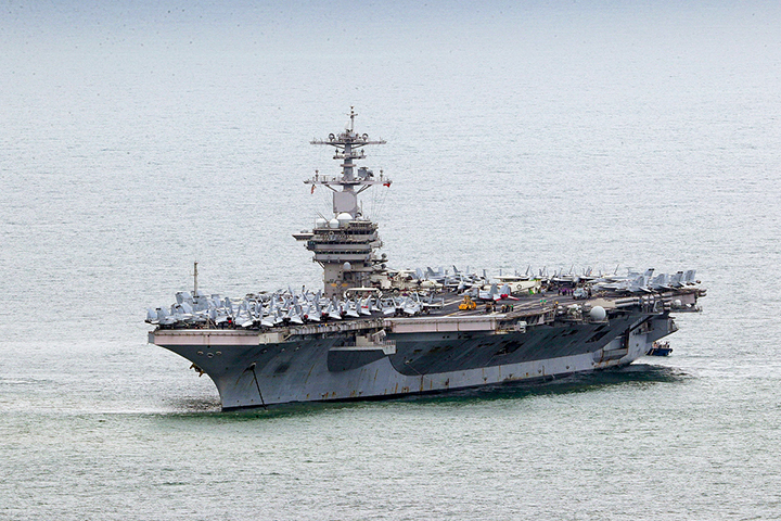 The USS Theodore Roosevelt arrived in Vietnam's central city of Da Nang on Thursday, making it the second U.S. aircraft carrier to visit Vietnam in two years.