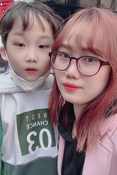 Kieu Trang and her son still decide to stay in Daegu. Photo courtesy of Kieu Trang.