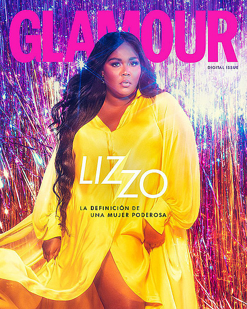 Lizzo in Cong Tri dress on the front cover of Glamour. Photo by Instagram/lizzobeeating.
