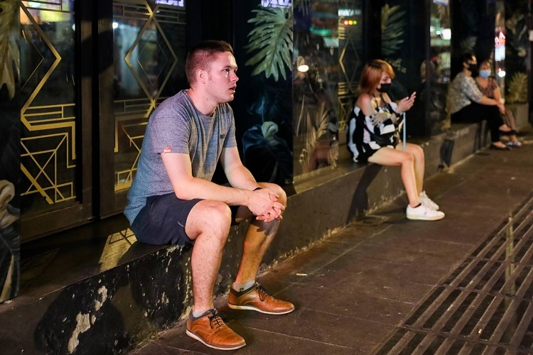 Sander, a Belgian man and a regular at Bui Vien, was surprised to learn that all bars and clubs on the street had closed down. But he concurred with the decision.