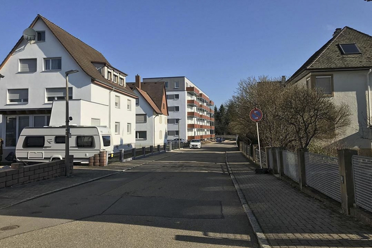 An empty street of Baden-Wurttemberg, Germany on March 18, 2020. Photo by VnExpress/Ngoc Mai