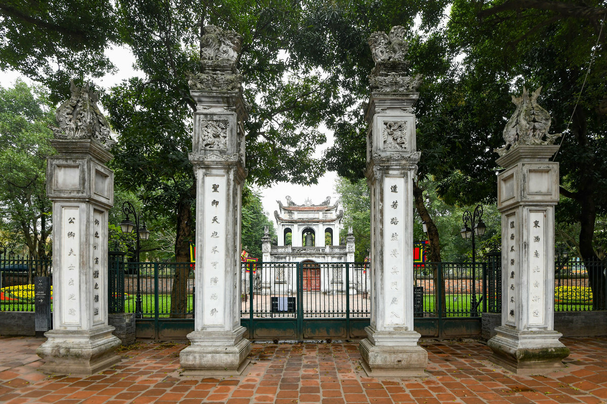 The Temple of Literature, one of the most crowded attractions in Hanoi was closed since March 13 and don't know when will it be opened again. All entrance to the area are locked ever since the situation of Covid-19 worsened in Hanoi.