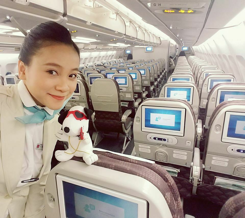 Pham Huong has been a flight attendant for an international airline since 2015. At the moment, she is taking some time off due to the effects of the novel coronavirus outbreak and flight suspensions.