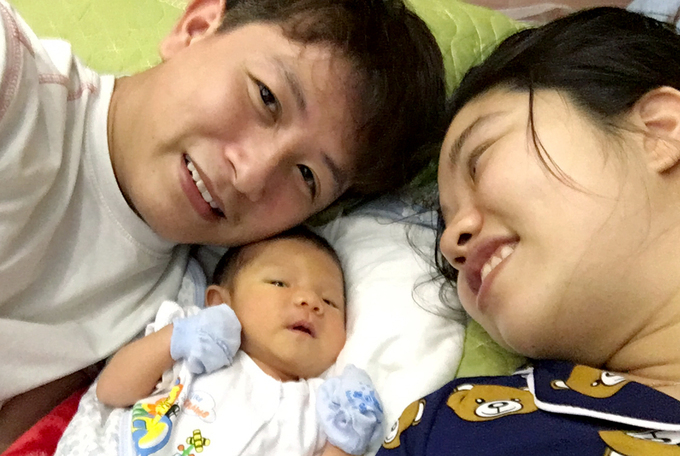 Their son was born on March 5, 2020. Photo courtesy of Thanh.