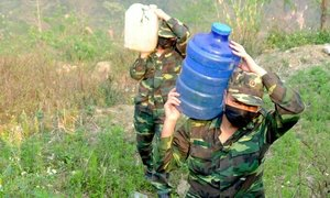 Water shortage makes border guards' Covid task harder