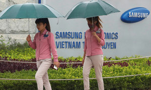 Samsung Vietnam fears 11 percent drop in export