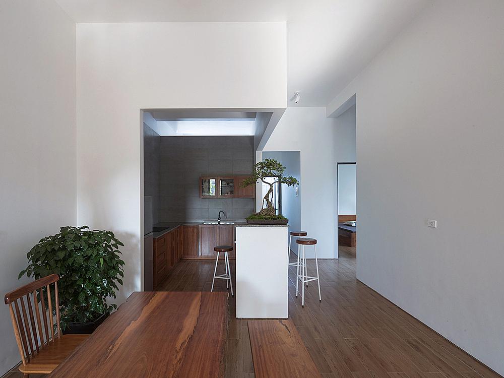 The minimalist interior design creates spacious rooms.