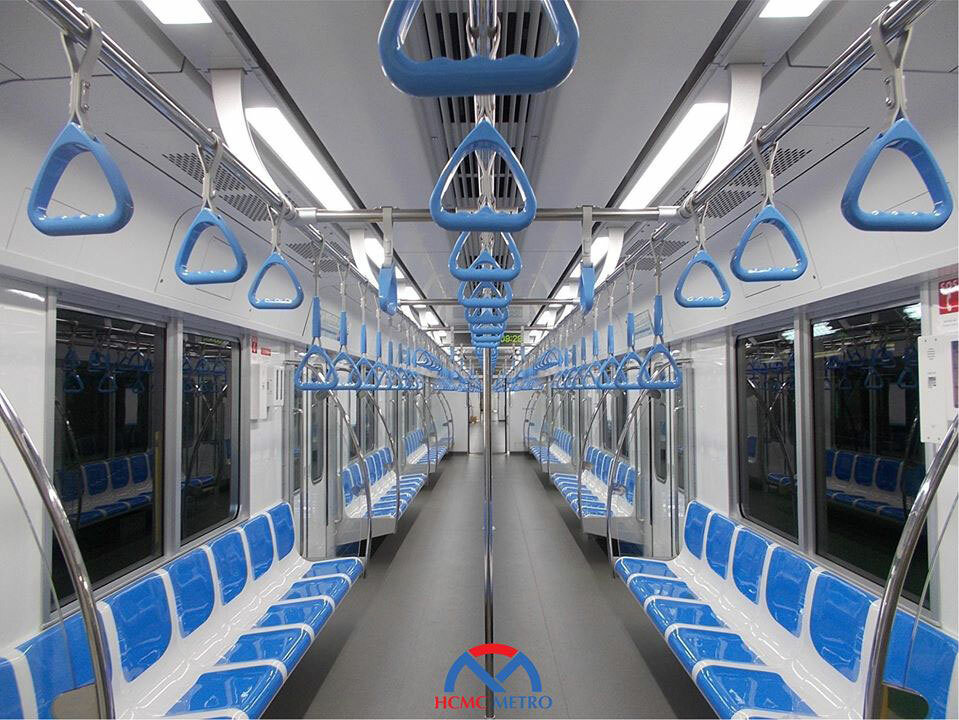 A view of the inside of the train. Photo courtesy of HCMC Management Authority for Urban Railways (MAUR).