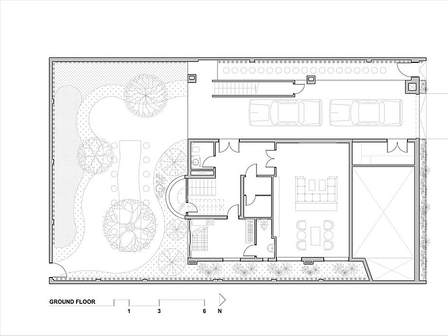 Ground floor blueprint.