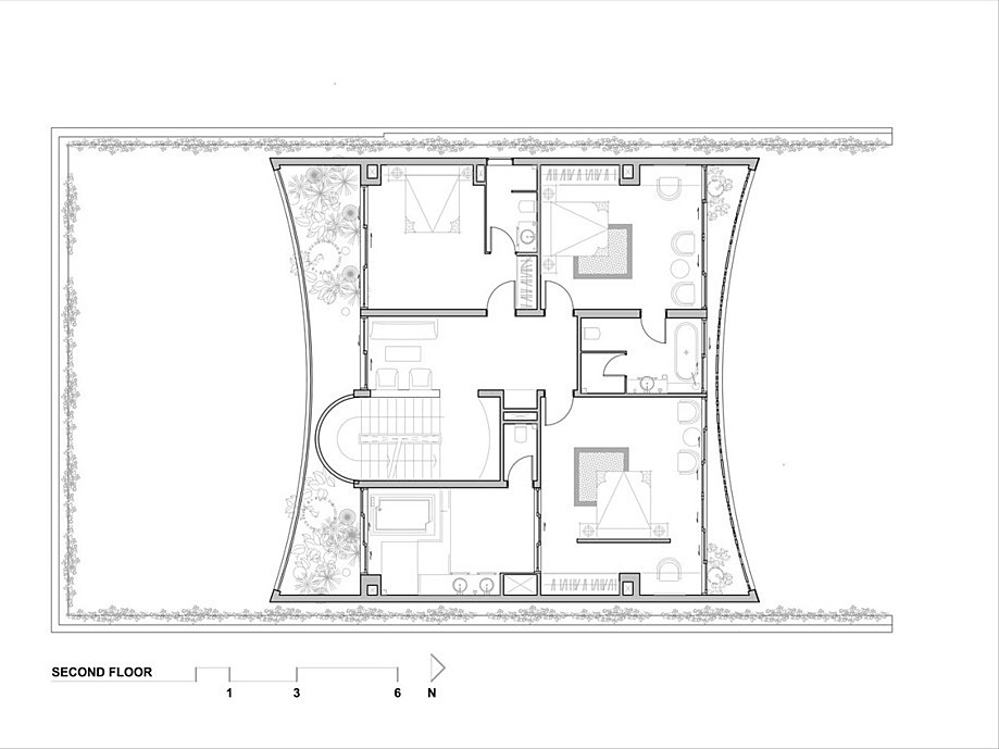 Second floor blueprint.