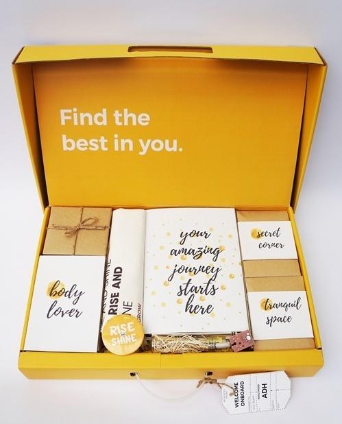 A Rise and Shine gift box. Photo courtesy of Tu.