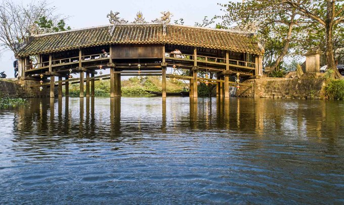 244-year-old bridge near Hue continues to enchant