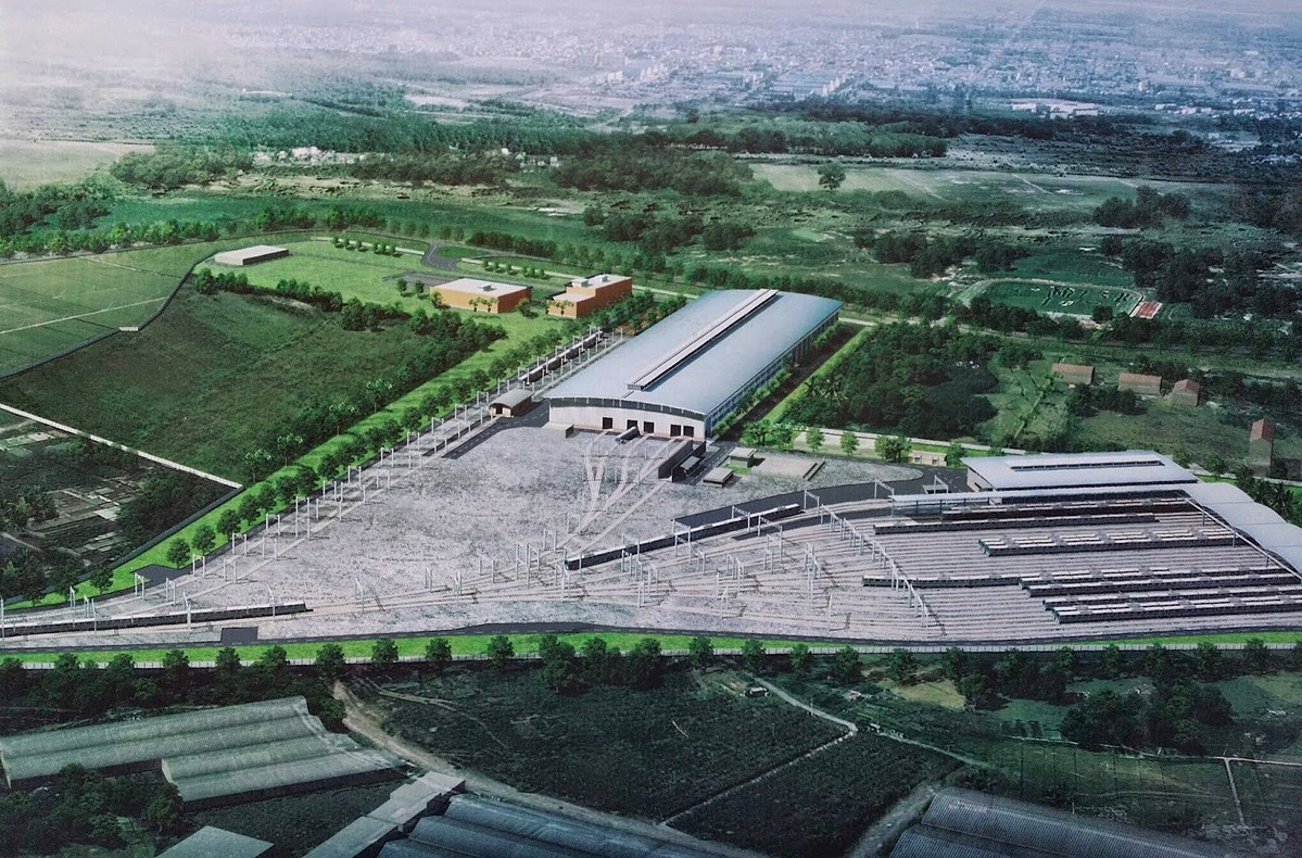 An illustration of the Long Binh Depot. Photo courtesy of MAUR.The first two trains of the line have yet to be delivered to Vietnam from Japan due to the ongoing Covid-19 pandemic, said Bui Xuan Cuong, director of MAUR. An elevated section, spanning from central Binh Thai Station to Long Binh Depot, is expected to test run in Q3 however, he added.The Metro Line 1, which spans 20 km, in which 2.6 km are underground, has a total investment of VND46.3 trillion ($1.98 billion). It has 14 stations, three of which are underground, spanning from the Long Binh Depot in District 9 to Ben Thanh in District 1.Saigon aims for the metro line to reach an 85 percent completion rate this year so it could run by the end of next year. The project is currently 75 percent complete.