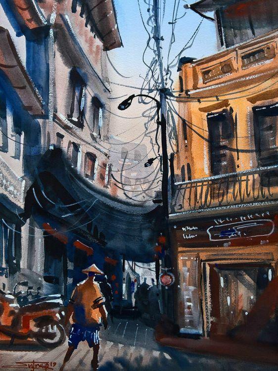 Sunny Street (Hanoi) byEvgraf Plotnikov.