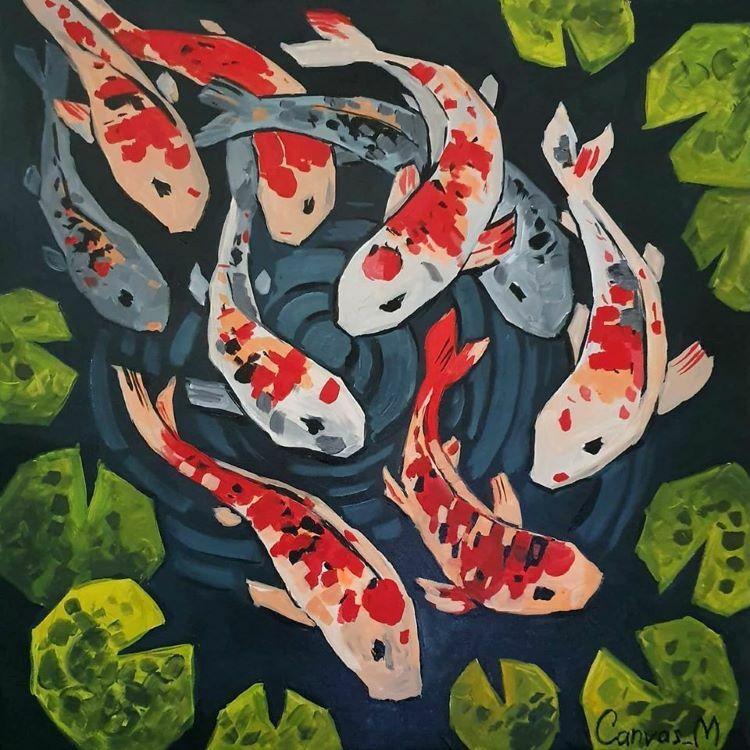 Koi fish byRita Shageyeva.