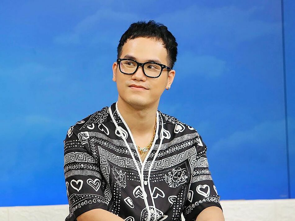 Composer Khac Hung attends a TV show in Vietnam. Photo courtesy of Khac Hung.