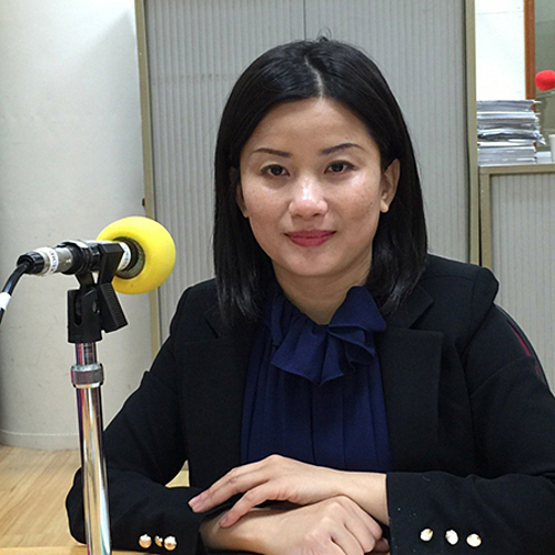 Huynh Xuan Trang during an interview with local media in Taiwan. Photo courtesy of Trang.